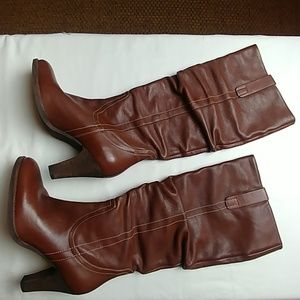 "Via Spiga: ""Forte"" soft leather slouchy tall boots"
